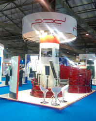 Commercial Exhibition Stall Design, Size: Min 25 Sq Mt