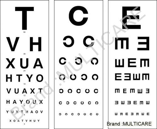 Eye Chart Multicare Surgical Product Corporation Manufacturer In