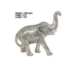 White Metal Elephant Solid Statues