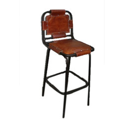 Bar Stool With Leather Top