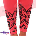 Black Simar Printed Leggings