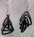 Party Women Quilled Black Earrings