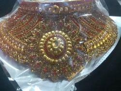 Jewllery Red Nd Gold Jewellery Set