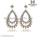 Micro Pave Diamond Fashion Earring