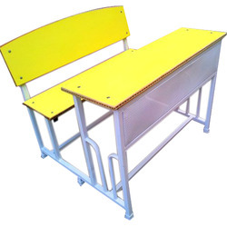 Duel Desk In Yellow Without Bag Shelf