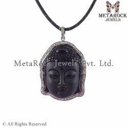 925 Sterling Silver Budha Pendant