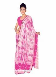 Art Silk Off White Print Work Designer Saree