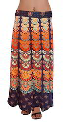 Designer Cotton Wrap Skirt