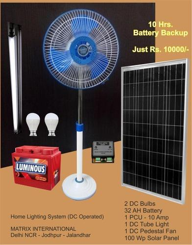Solar Dc Operated Home Lighting System