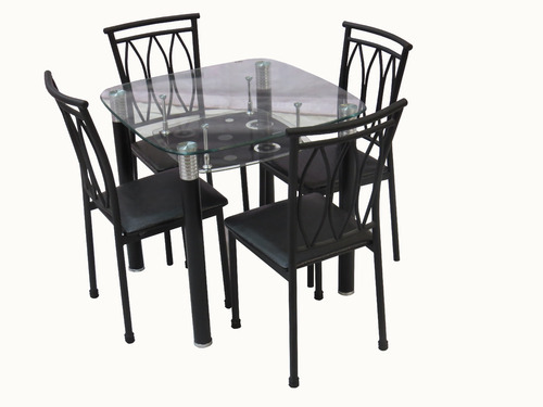 Irony Furniture 4 Sitter Metal Dining Table Set 608 Rs 12750 Set