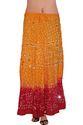 Multicolor Designer Bandhej Skirt