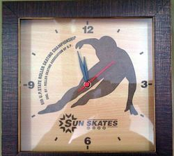 Framed Wooden Wall Clock