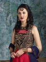 Velvet Net Anarkali Suit