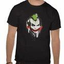 Mens Cotton Black T Shirt, Size: S-xl