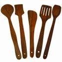 Ajbsk Brown Wooden Spoon, For Kitchen