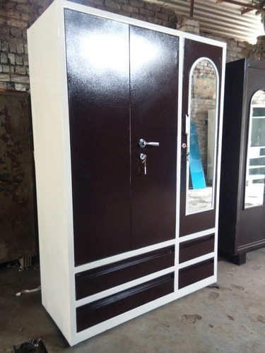 Nawab Steel Brown Texture And White Double Shaid Steel
