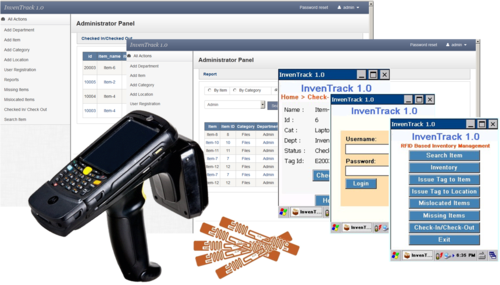 RFID Inventory Management System - InvenTrack in Shivrajpur