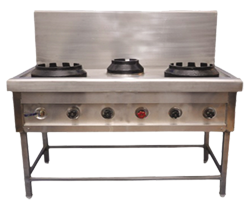 Commercial 3 Burner Chinese Cooking Range