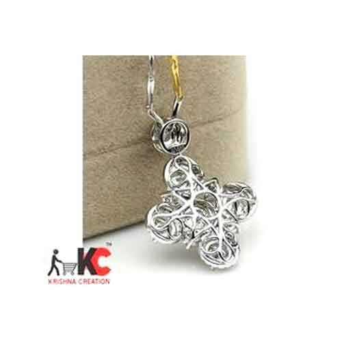 colvard pendant ip necklace charles brilliant forever dew white gold moissanite