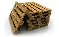 Rectangular Brown Wood Pallets, For Packaging, Capacity: 1 Ton