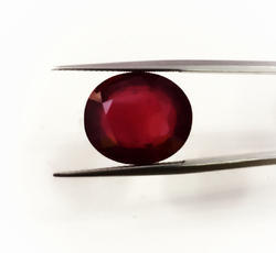 Ruby Cut Oval Glass filled