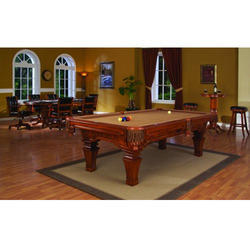 Teak Billiard Table