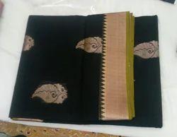 Black Border Silk Cotton Sarees with Blouse