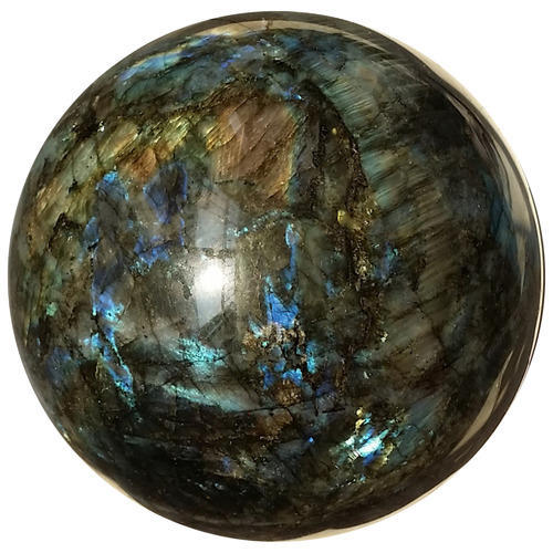 Gemstone Bowl - Natural Yellow Fire Labradorite Sphere Ball