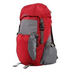 Red & Grey - 266 Bleu Light Weight Foldable Rucksack Bag