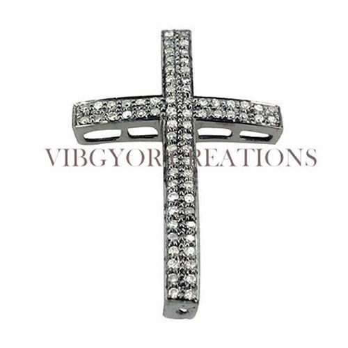 New pave diamond cross pendant at rs 5265 piece johari bazar new pave diamond cross pendant aloadofball Image collections