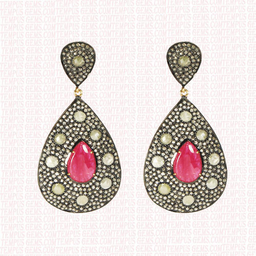 Tempus Gems Ruby Earring Rs 42000 Piece Tempus Gems Pvt Ltd