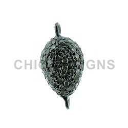 Diamond Pave Beads Connector
