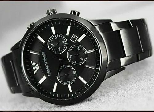 Empario Armani Black Mat Authentic Emporio Armani AR2453 Wrist Watch ... b091ae6538c