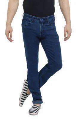 428db88a7 Blue Colour Narrow Fit Denim Lycra Jeans at Rs 450  piece