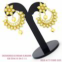 Traditional Kundan Chand Bali Earrings