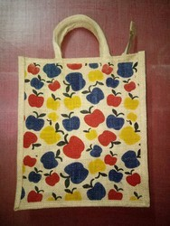 Apple Printed Jute Bag
