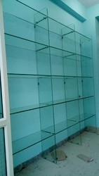 Brown Home Glass Shelves