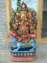 Blessing Ganesha Wooden Idol 3 Ft