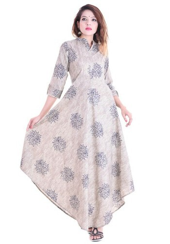 69e0ee6e40 Printed XL Cotton Ankle Length Gown
