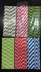 Bhumi's 6mm *197mm Printed Colour Paper Straws