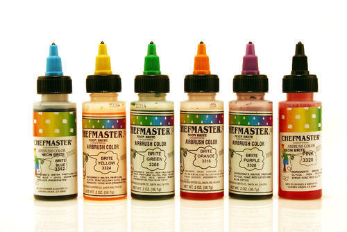 Chefmaster Neon Airbrush Colours at Rs 1 /piece | Food Pigment ...