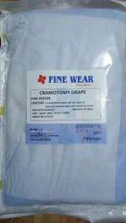 Non-Woven Craniotomy Disposable Drape, for General Surgery