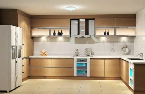 U Shaped Modular Kitchen य आकर क मडयलर