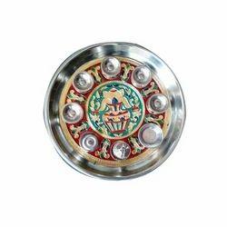 Minakari Pooja Plate