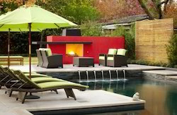 Pool Side Cane Furniture