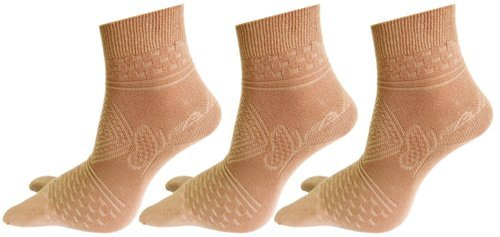 051a507ce31 Assorted Cotton Spandex Women Double Knit Self Design Ankle Thumb Socks