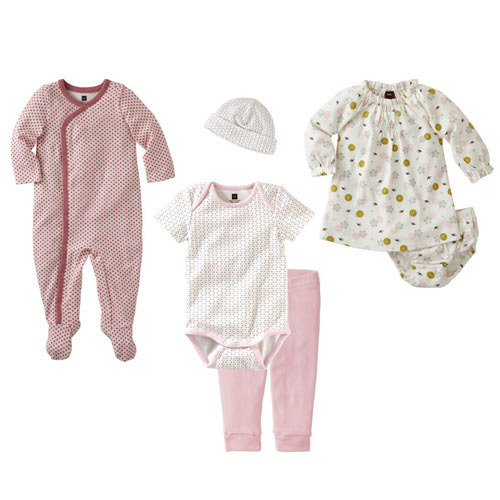 Cotton And Girl And Baby Clothing Set