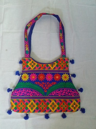 Multicolor Embroidered Cotton Embroidery Handbag