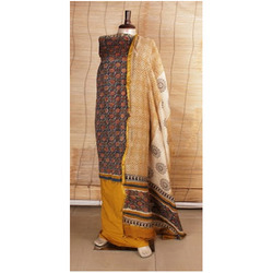 Block Printed Chanderi Suits