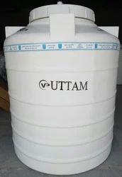 White Uttam Triple Layer Water Tank